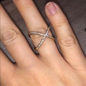 Michael Kors cross ring size 7
